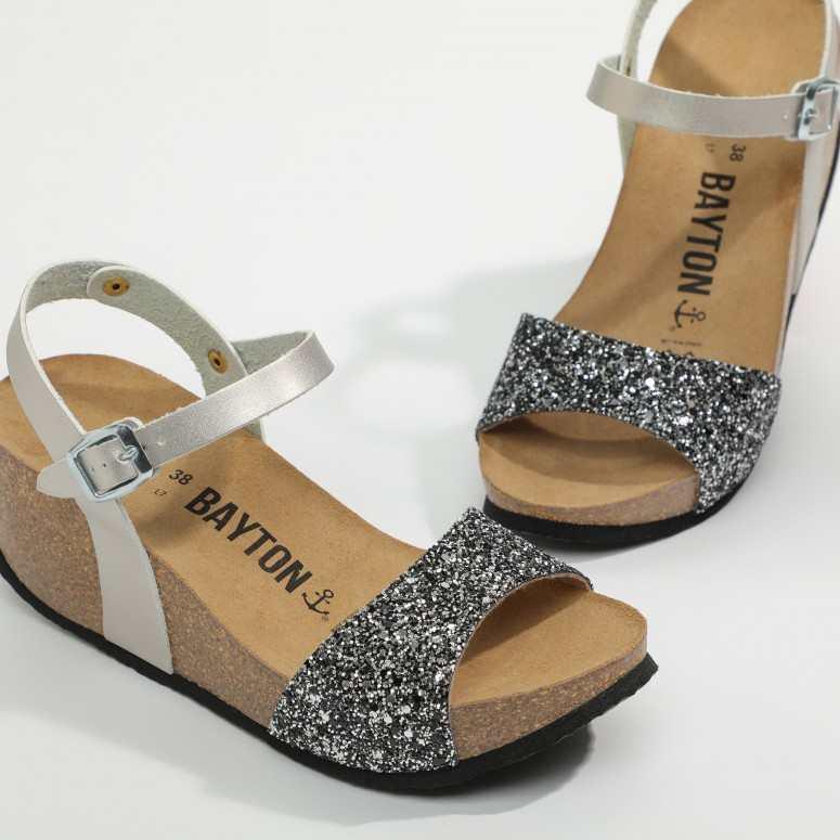 Sandale Maya Argent Glitter