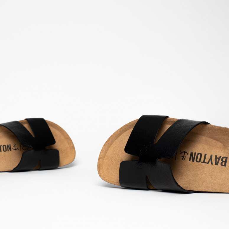 Sandales 1 Bride Djone Noir