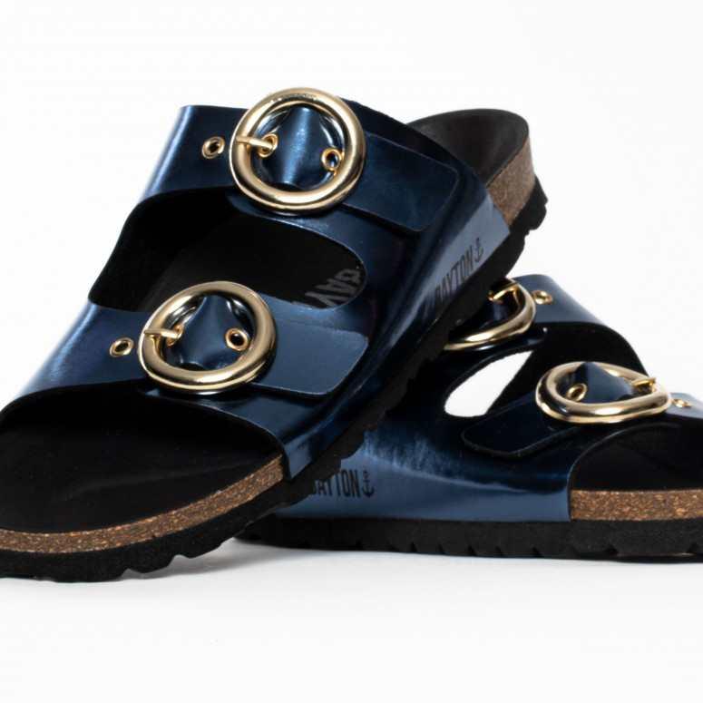 Sandales 2 Brides Vlad Bleu