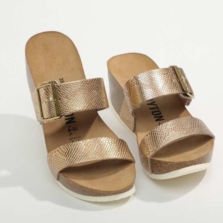 Sandale Newcastle Dorée